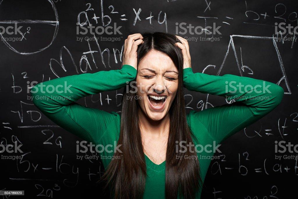 Stress from education stock photo