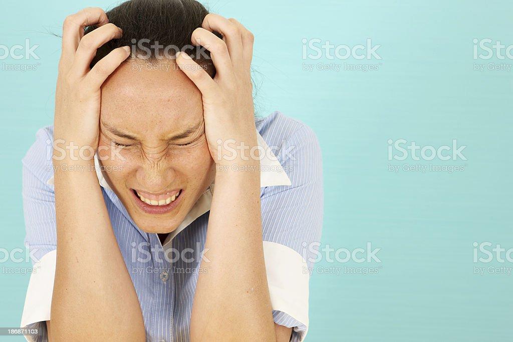 Stress Headache royalty-free stock photo