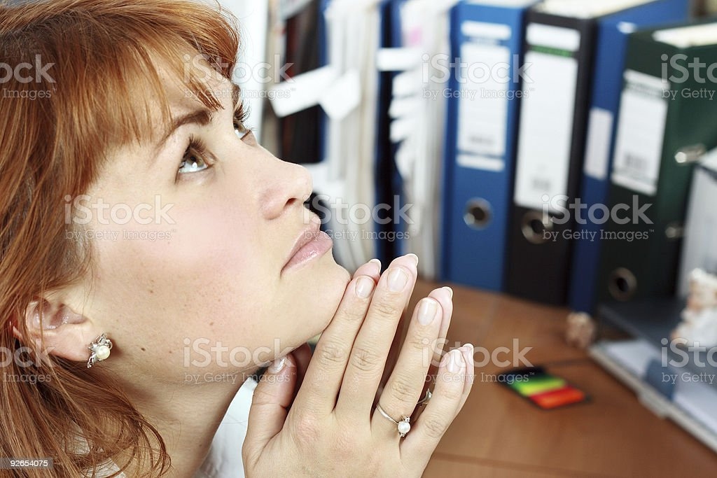 Stress in office royalty-free stock photo