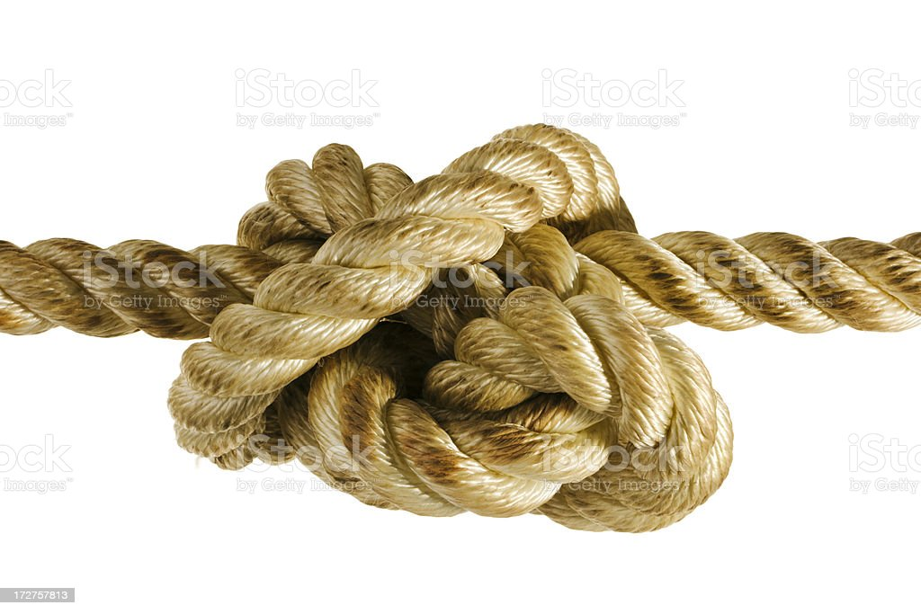 Stress Knot Close-up royalty-free stock photo