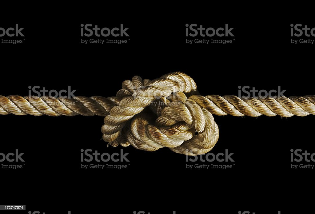Stress Knot Isolated on Black stock photo
