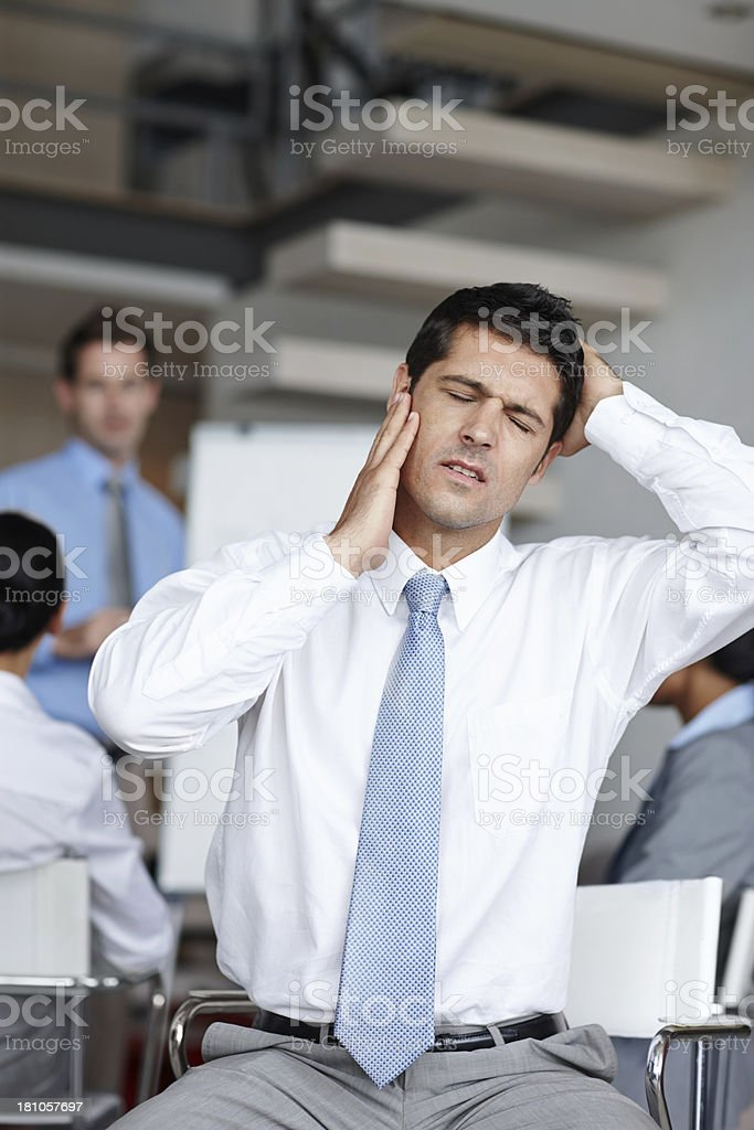 Stress manifests physically royalty-free stock photo