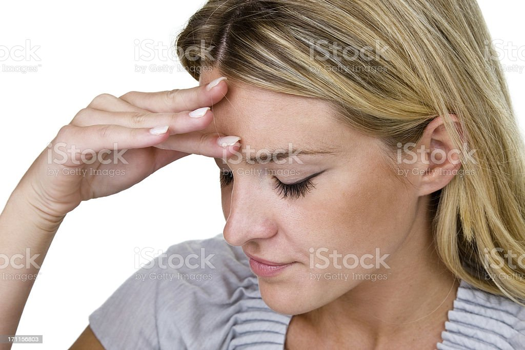 Stress or headache concept royalty-free stock photo