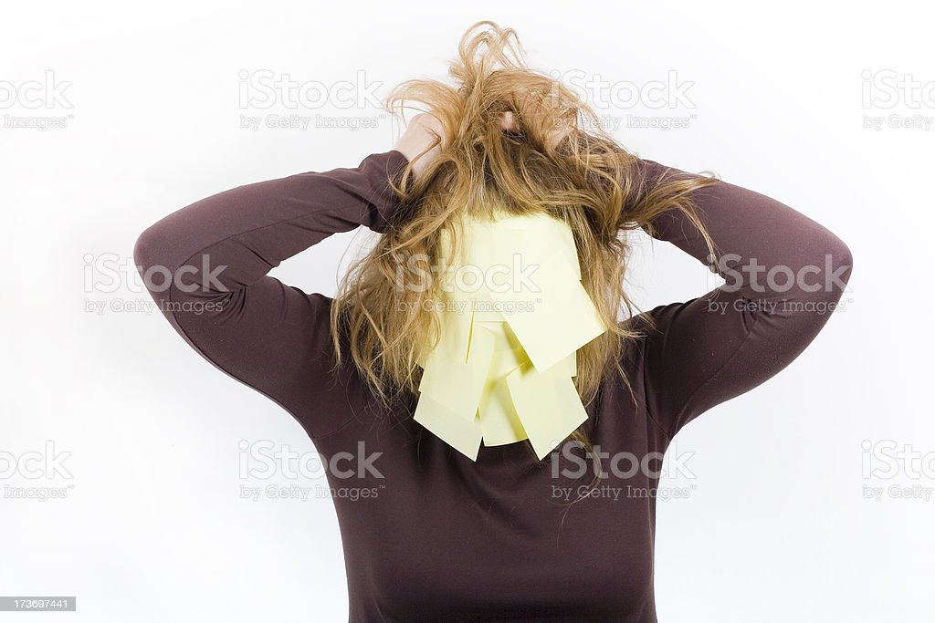 Stress & Post-it's royalty-free stock photo