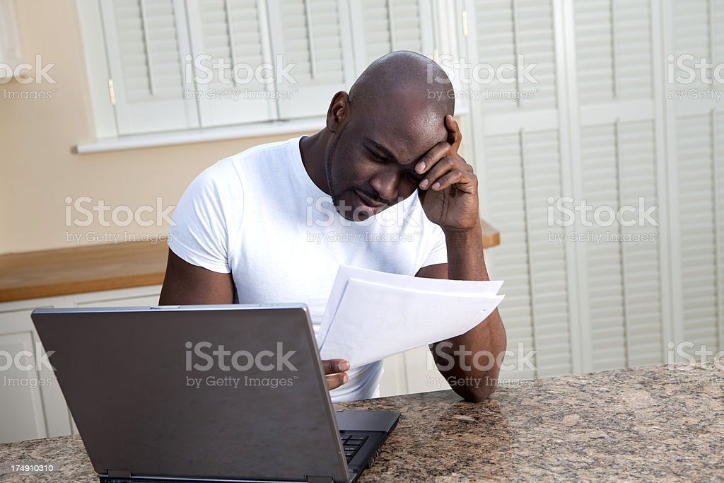 Stress with mounting debt royalty-free stock photo