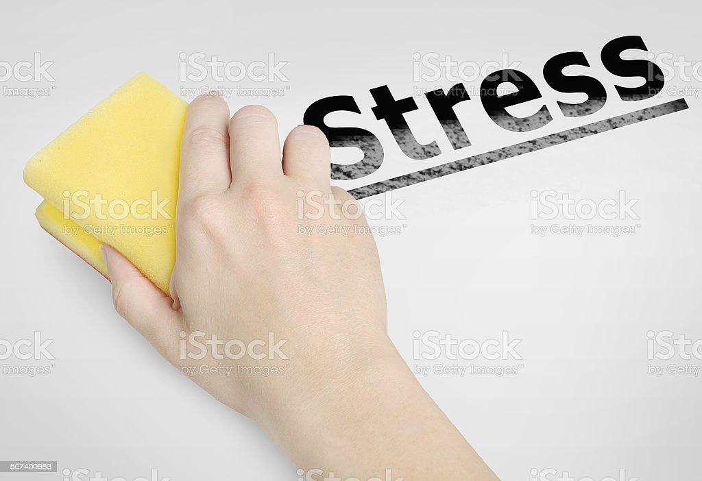 Stress  word stock photo
