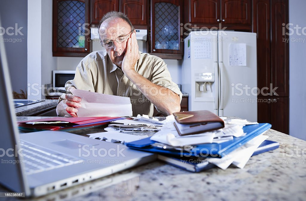 Stressed about money stock photo