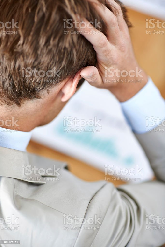 Stressed about the figures royalty-free stock photo