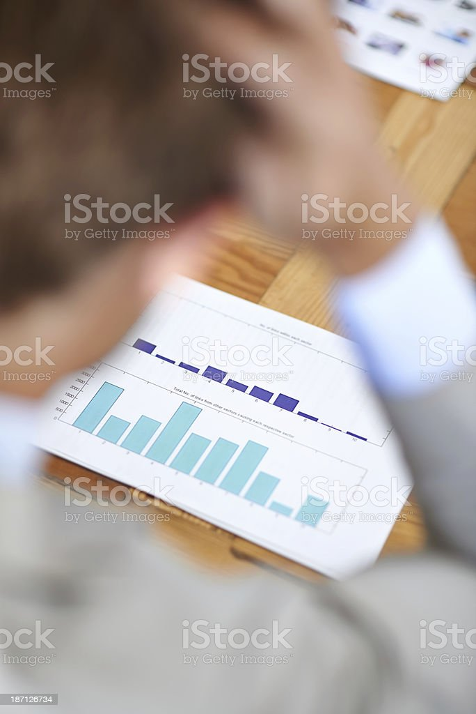 Stressed about the latest figures royalty-free stock photo