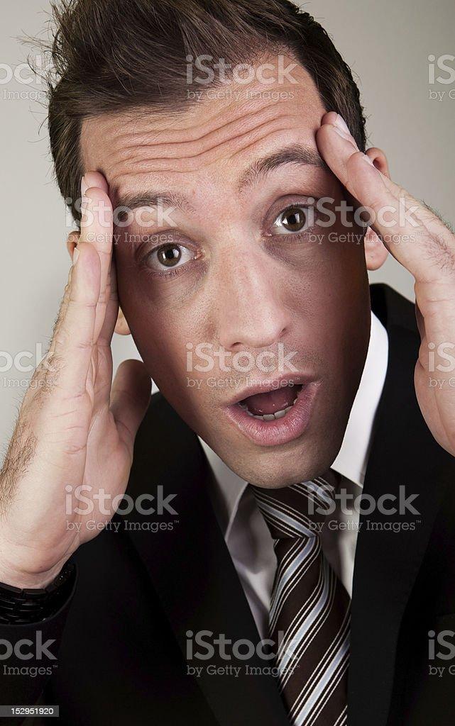 A tensión y frustración ejecutivo - foto de stock