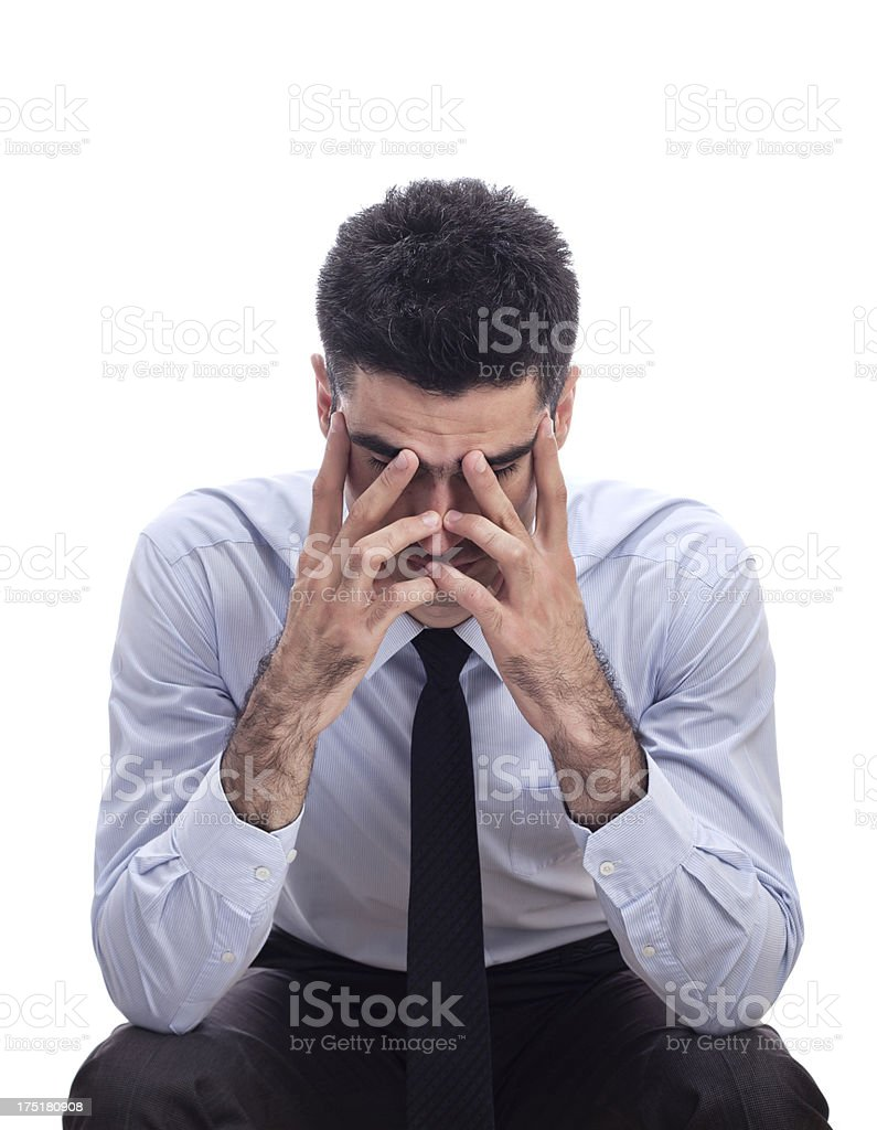 Stressed and tired royalty-free stock photo