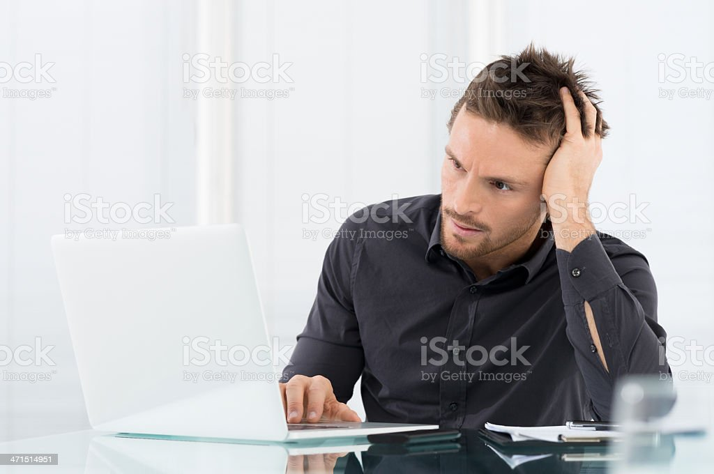 Stressed and Worried Businessman royalty-free stock photo