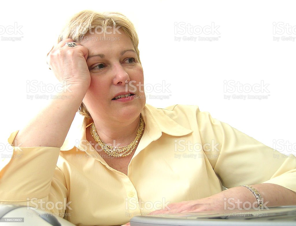 Stressed at work - isolated stock photo