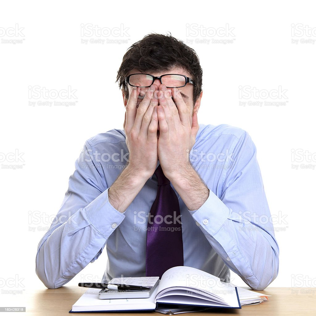 Stressed at work royalty-free stock photo