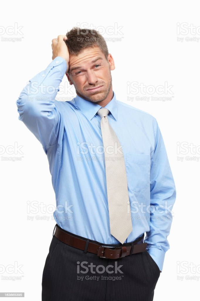 Stressed business man royalty-free stock photo
