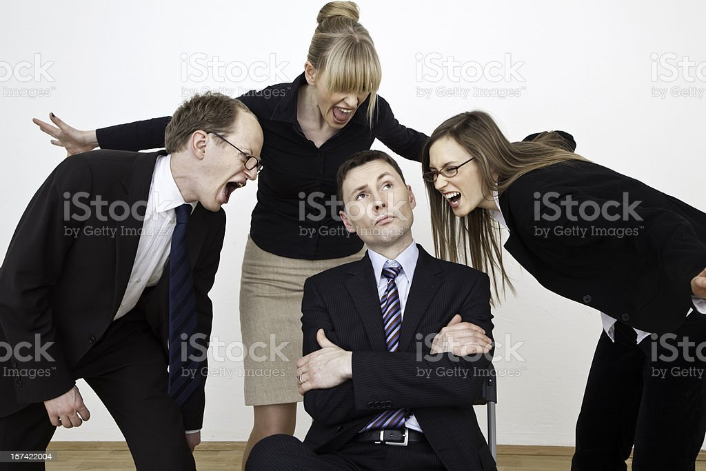 Stressed business team royalty-free stock photo