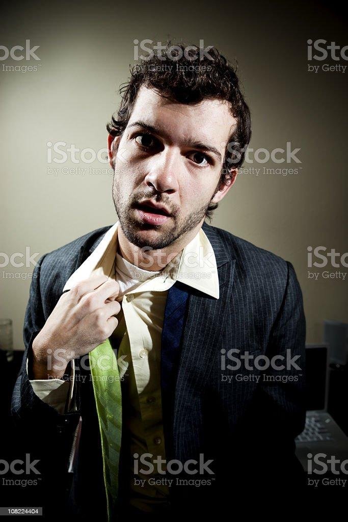 Stressed Businessman royalty-free stock photo