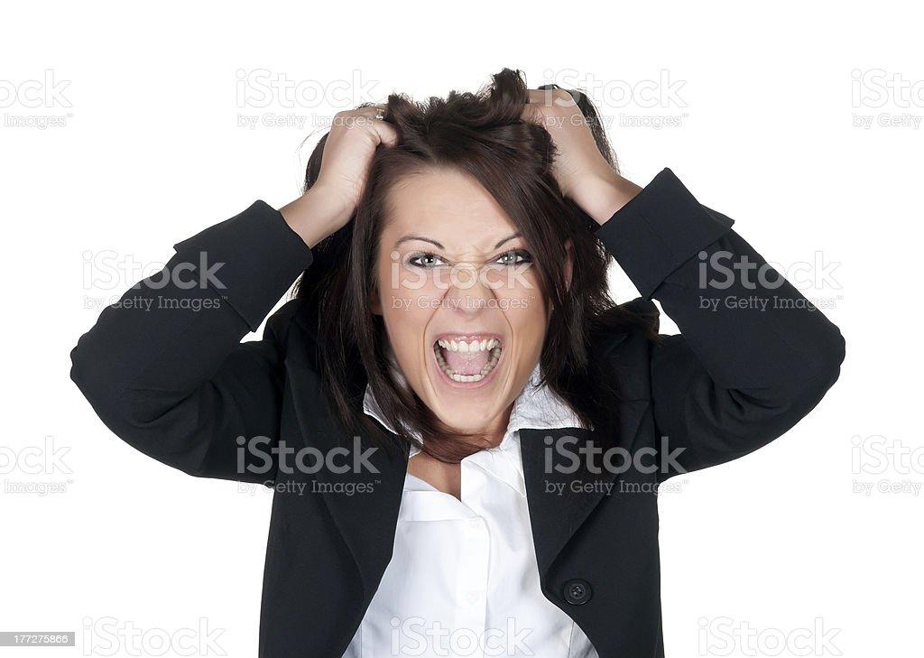 stressed businesswoman stock photo