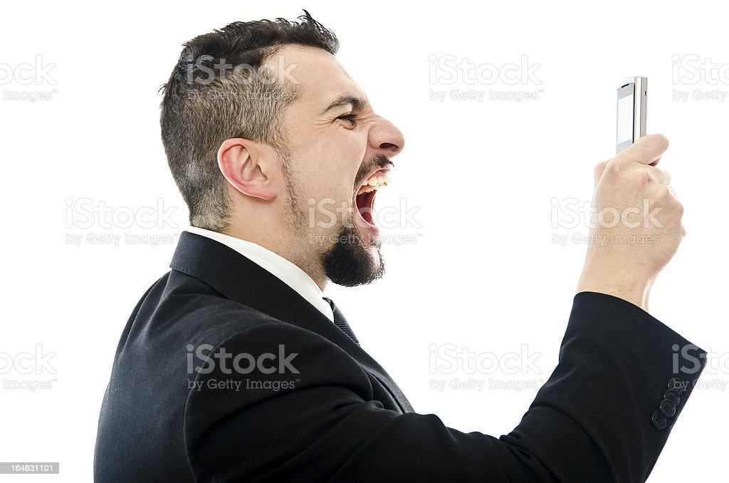 Stressed call royalty-free stock photo