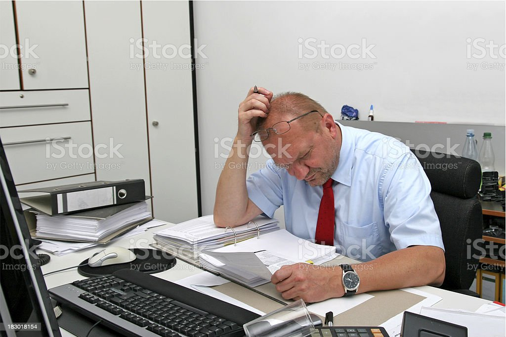 Stressed Clerk royalty-free stock photo