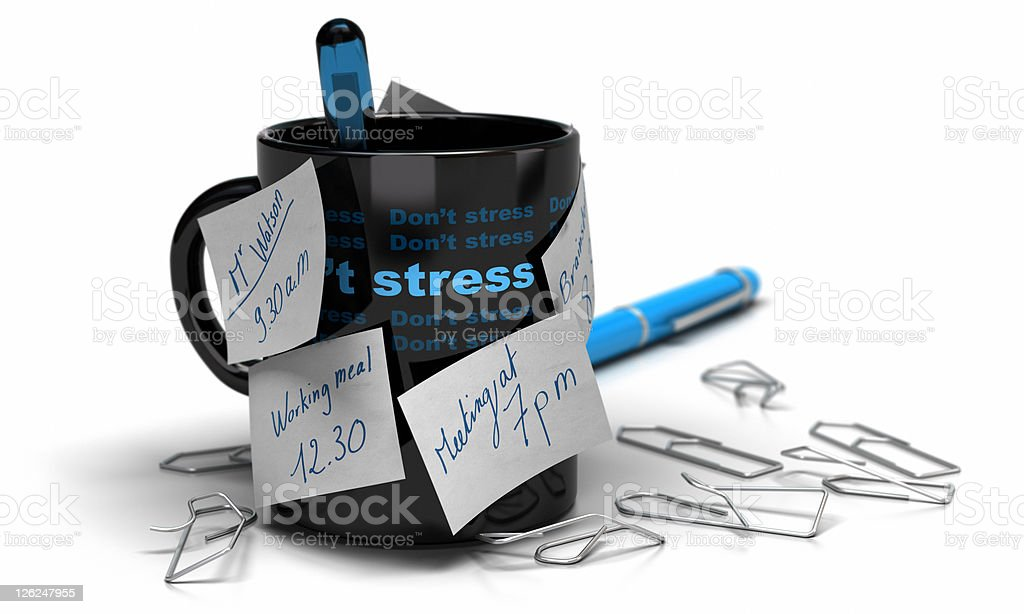 stressed concept - workplace stress royalty-free stock photo