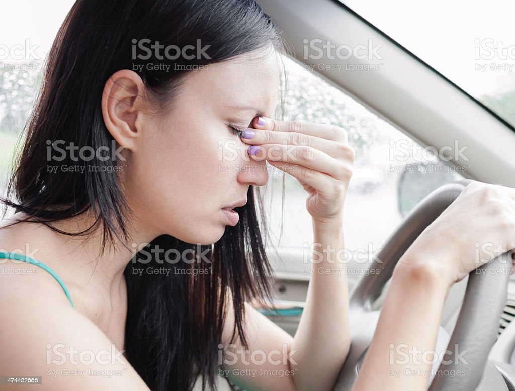 Stressed driver stock photo