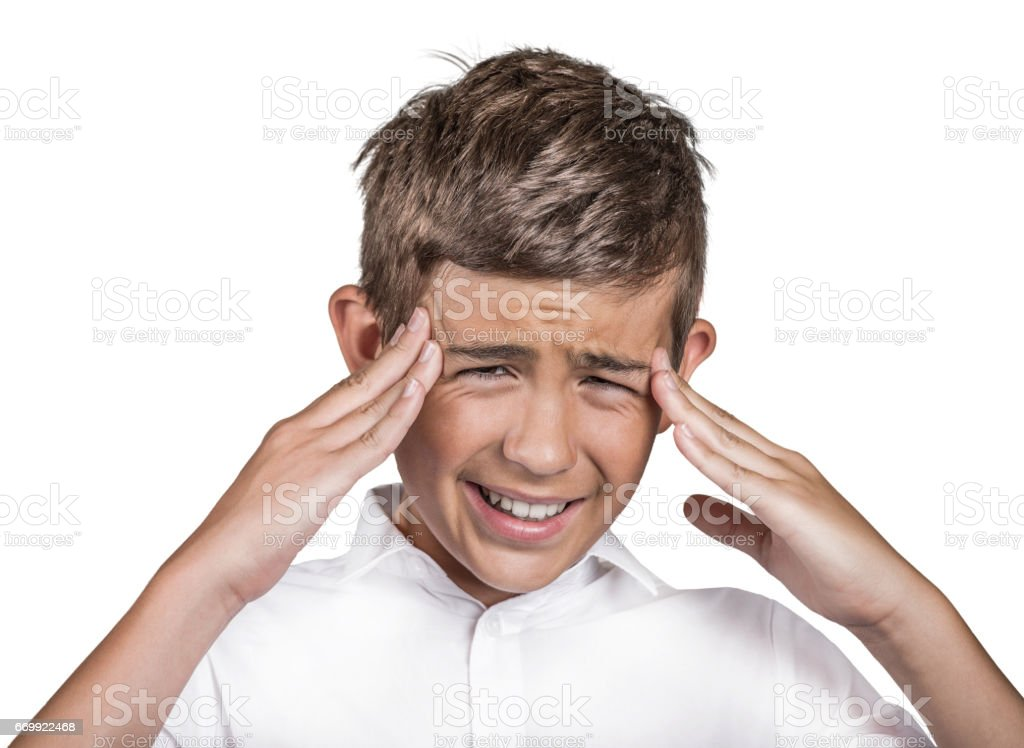 stressed frustrated teenager boy annoyed by to many things to do errands having panic attack stock photo