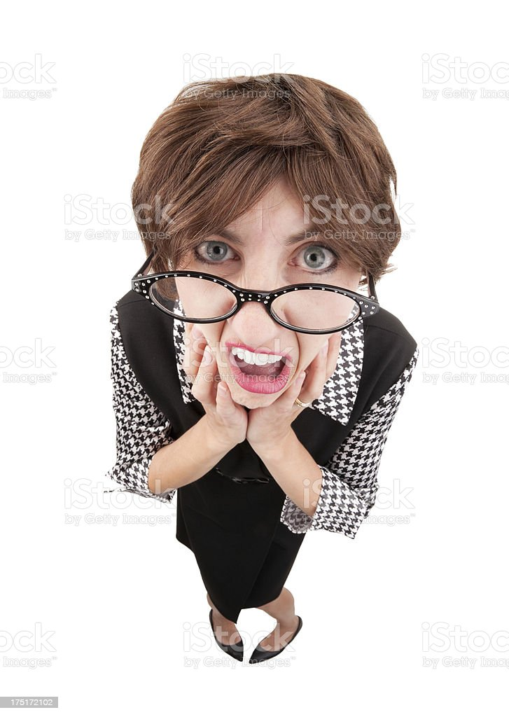 Stressed Geeky Woman royalty-free stock photo