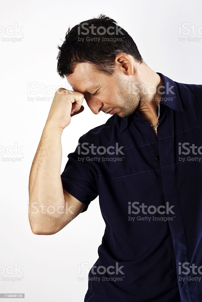 Stressed Man stock photo