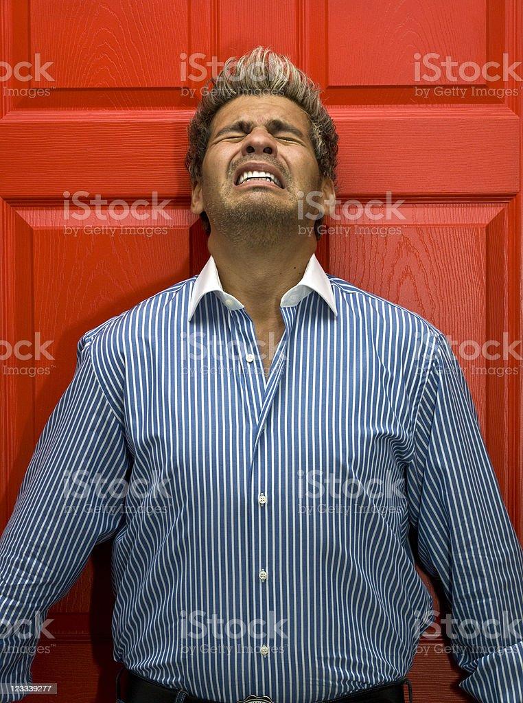 Stressed man royalty-free stock photo