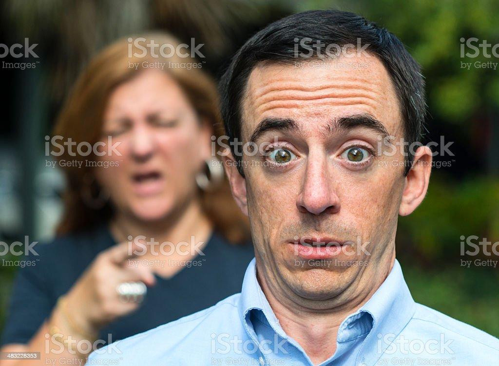 Stressed man stock photo