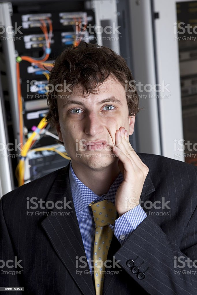 Stressed Manager royalty-free stock photo