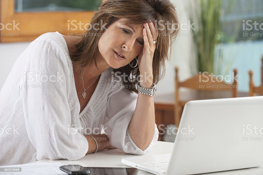 Stressed Mature woman royalty-free stock photo