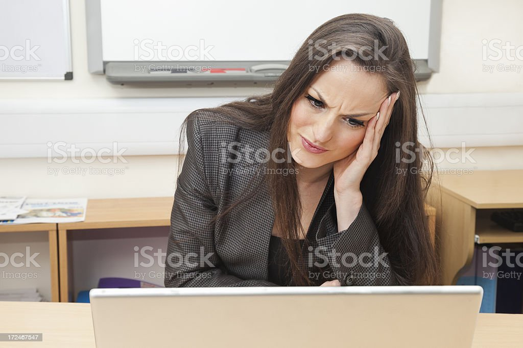 Stressed office worker royalty-free stock photo
