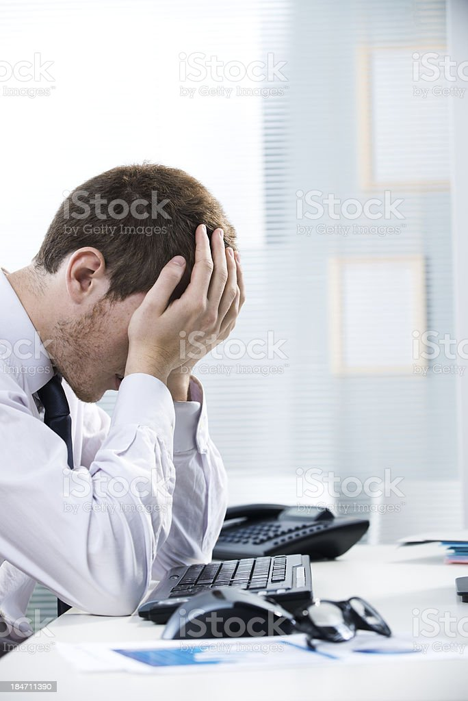 Stressed out businessman royalty-free stock photo