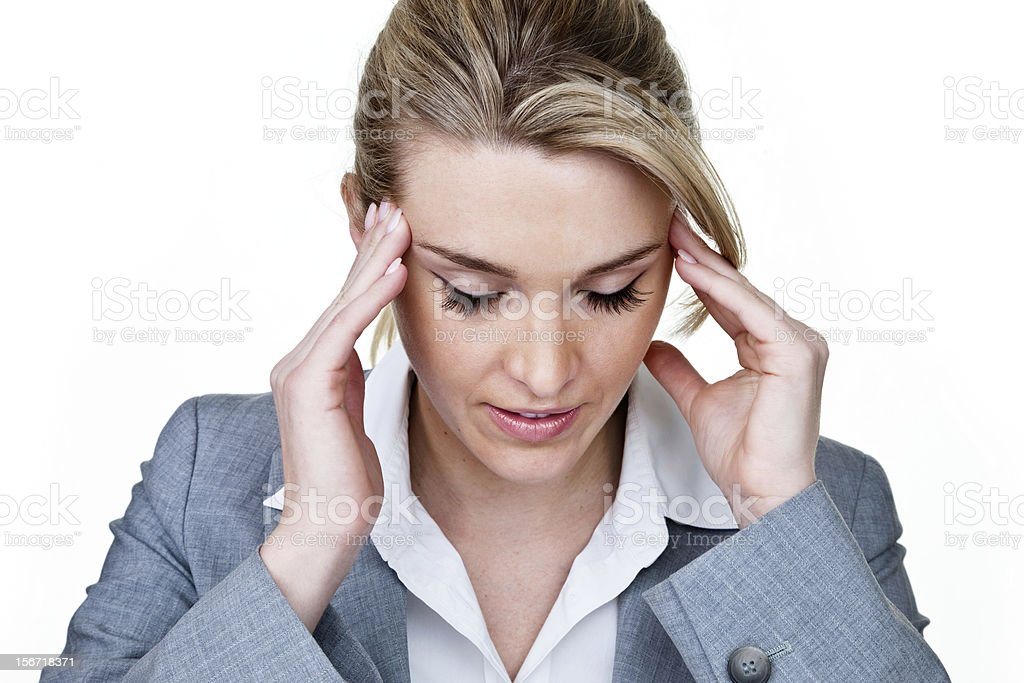 Stressed out businesswomen royalty-free stock photo