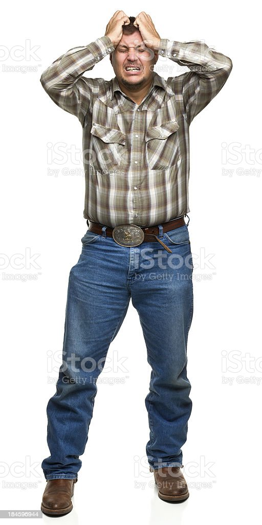 Stressed Out Man royalty-free stock photo