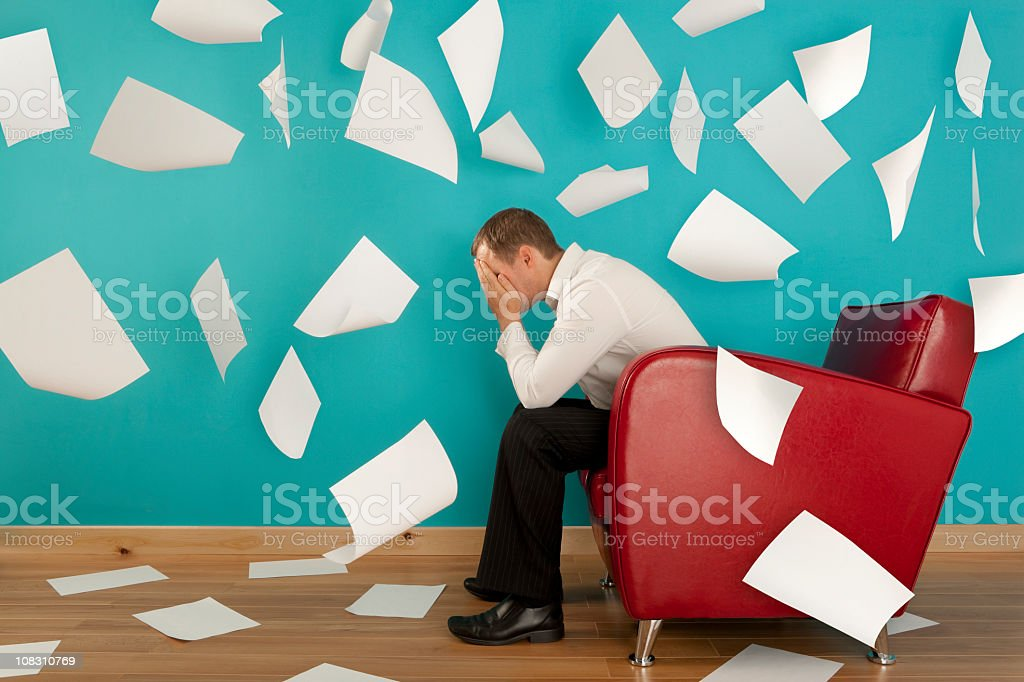 Stressed out stock photo