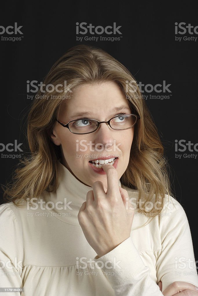 Stressed out woman royalty-free stock photo