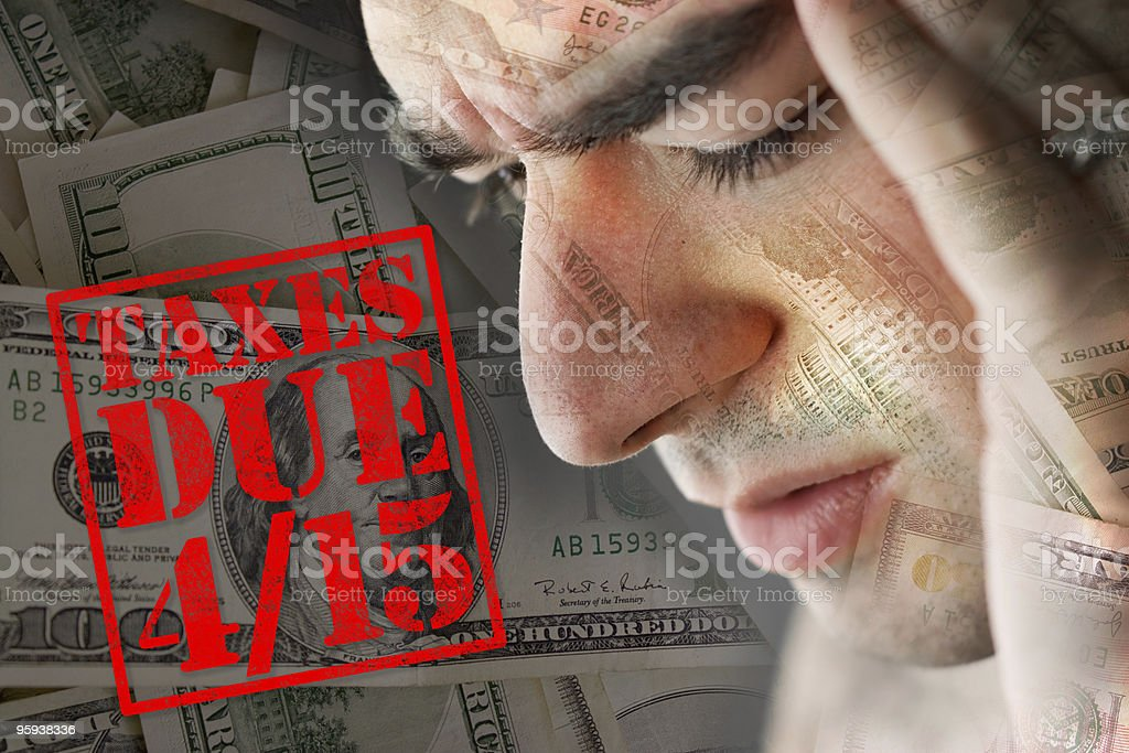 Stressed Over Taxes Due stock photo