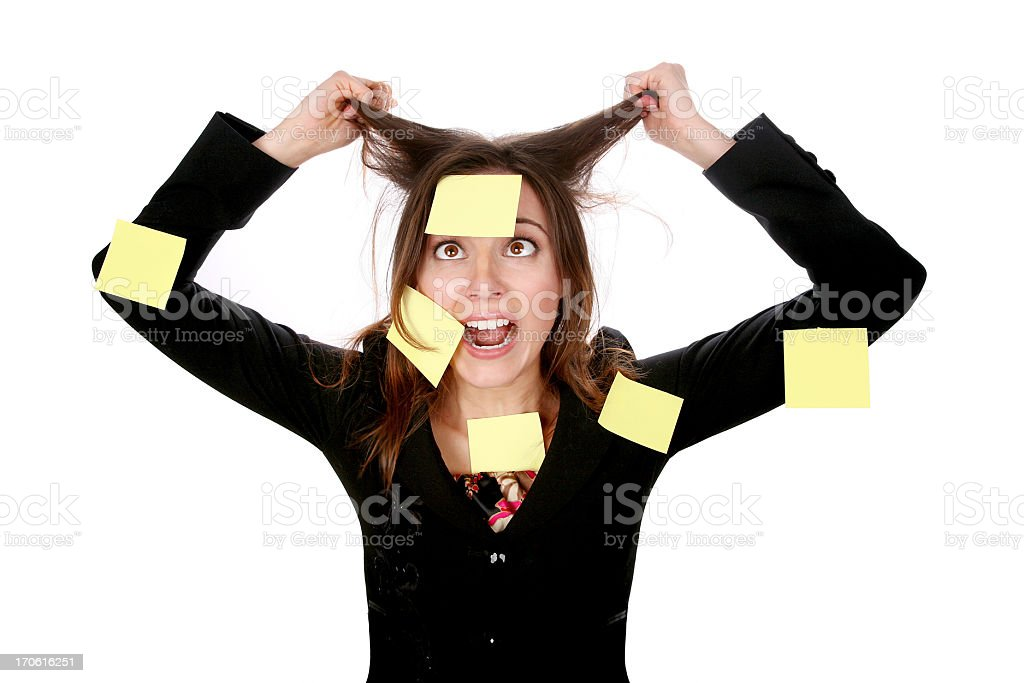 Stressed! royalty-free stock photo