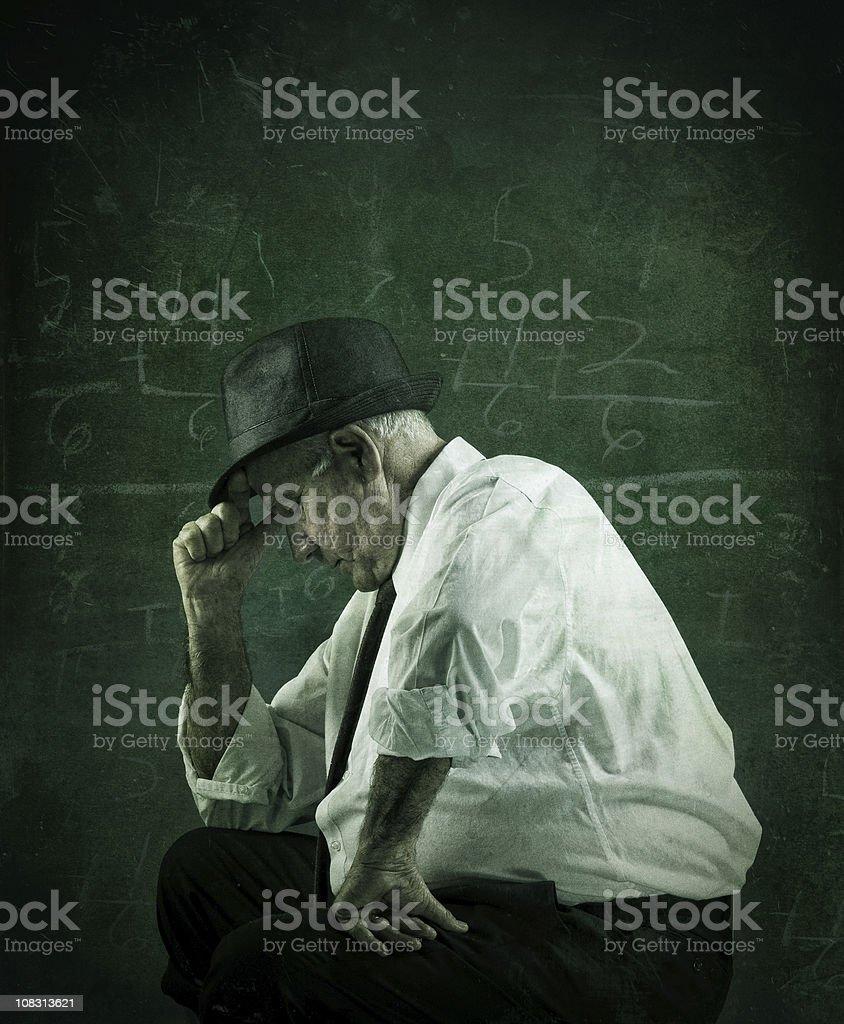 stressed senior man stock photo