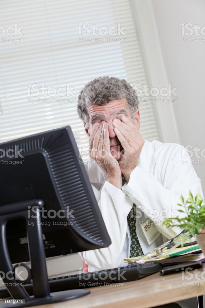 Stressed Tired Medical Professional royalty-free stock photo