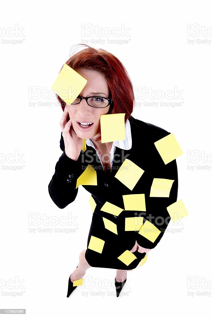 Stressed to the max! royalty-free stock photo