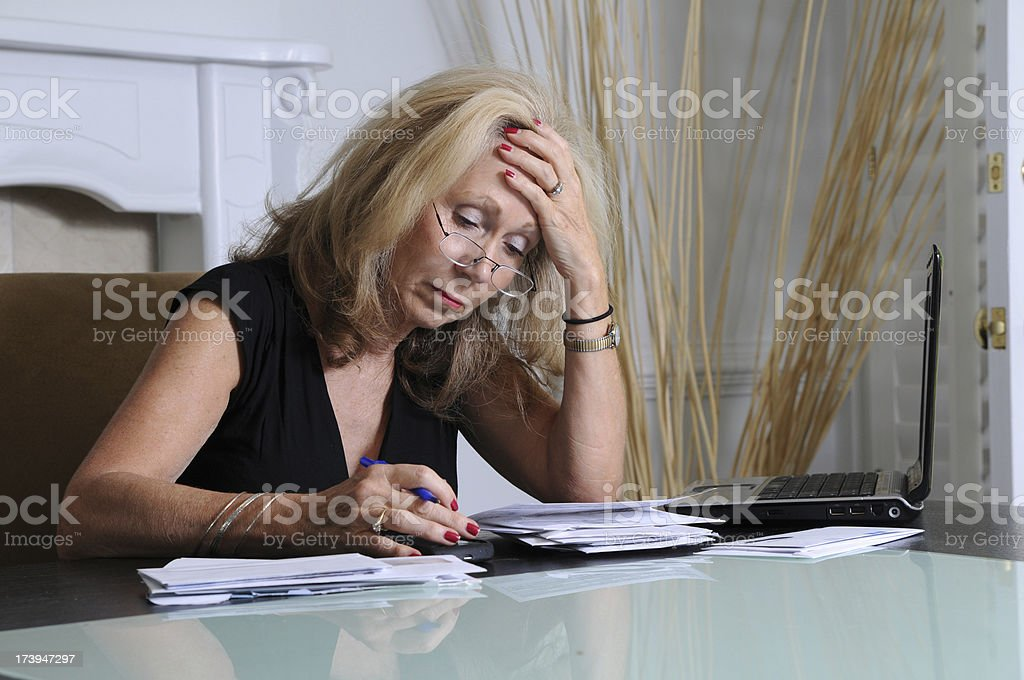 Stressed Woman royalty-free stock photo