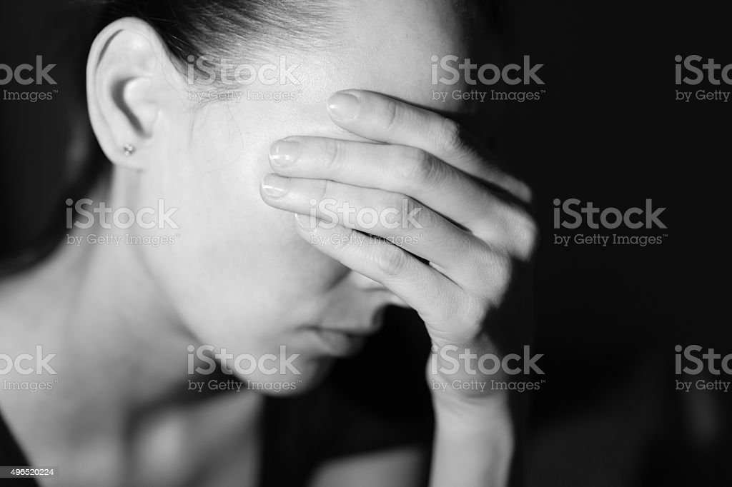 Stressed woman stock photo