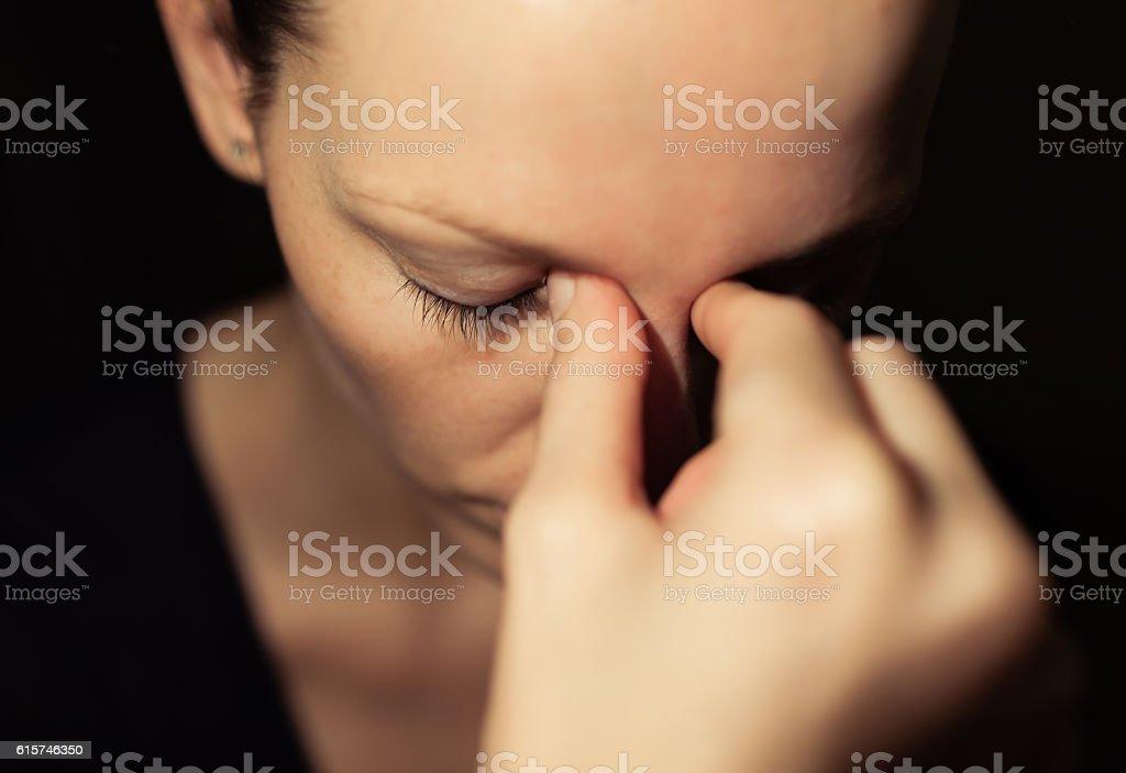 Stressed woman stock photo