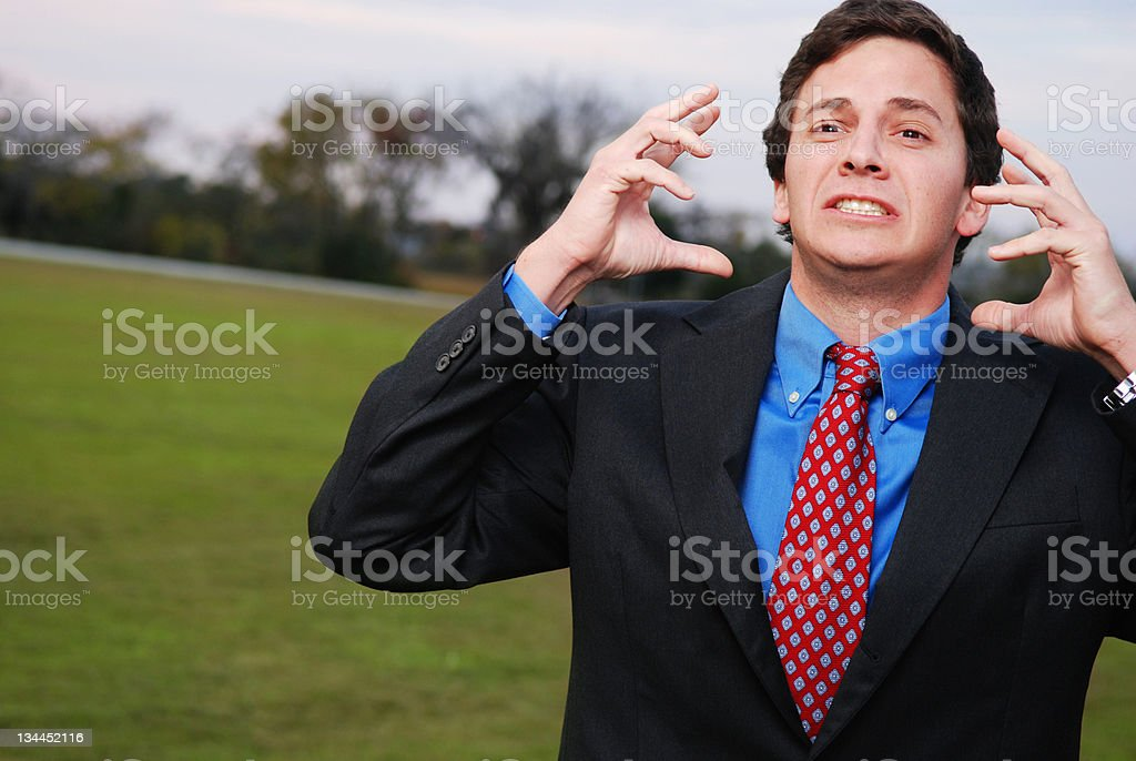 Stressed Young Businessman royalty-free stock photo