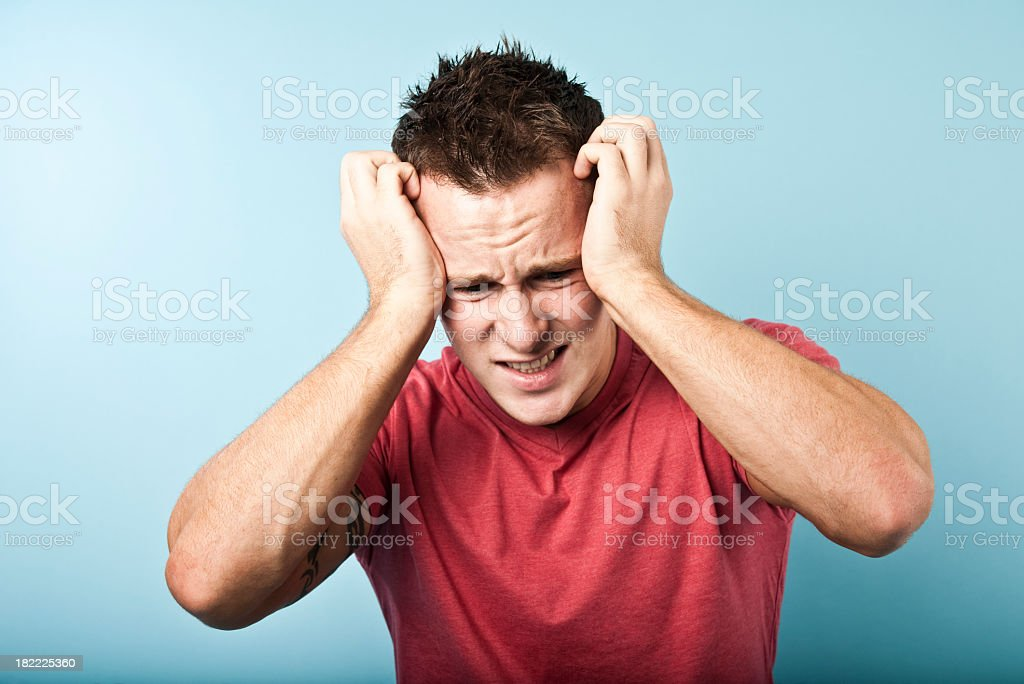 stressed young man royalty-free stock photo