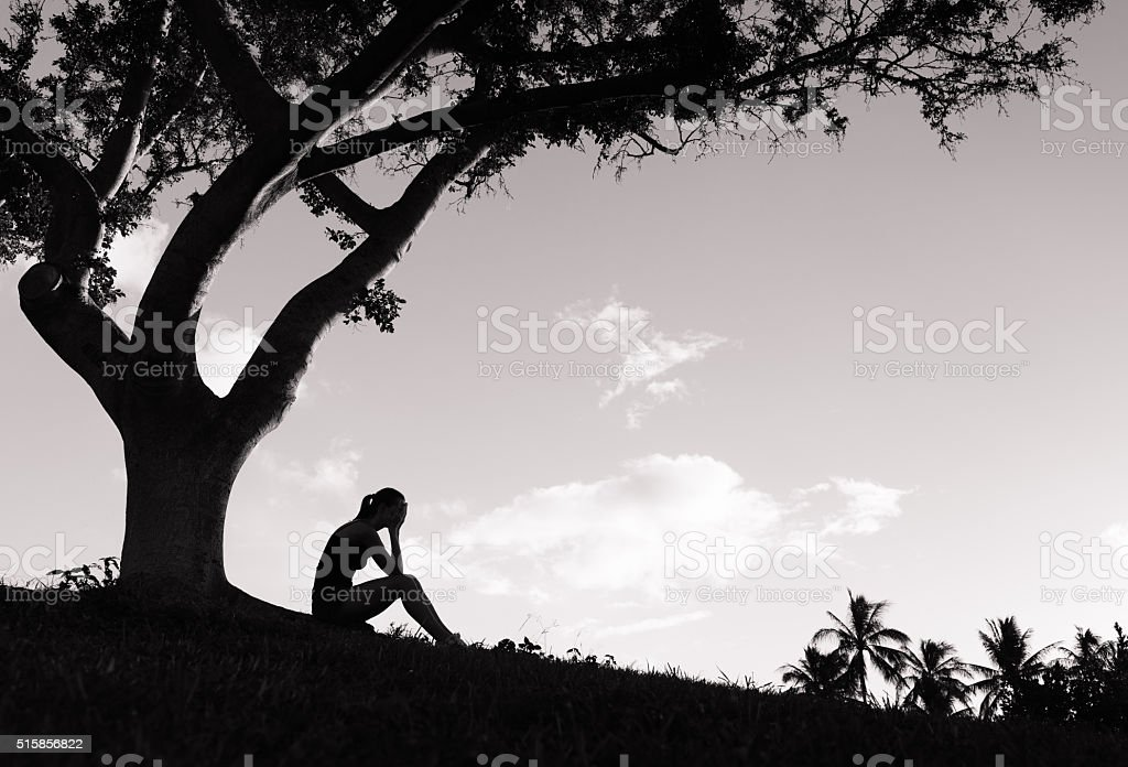 Stressed young women stock photo
